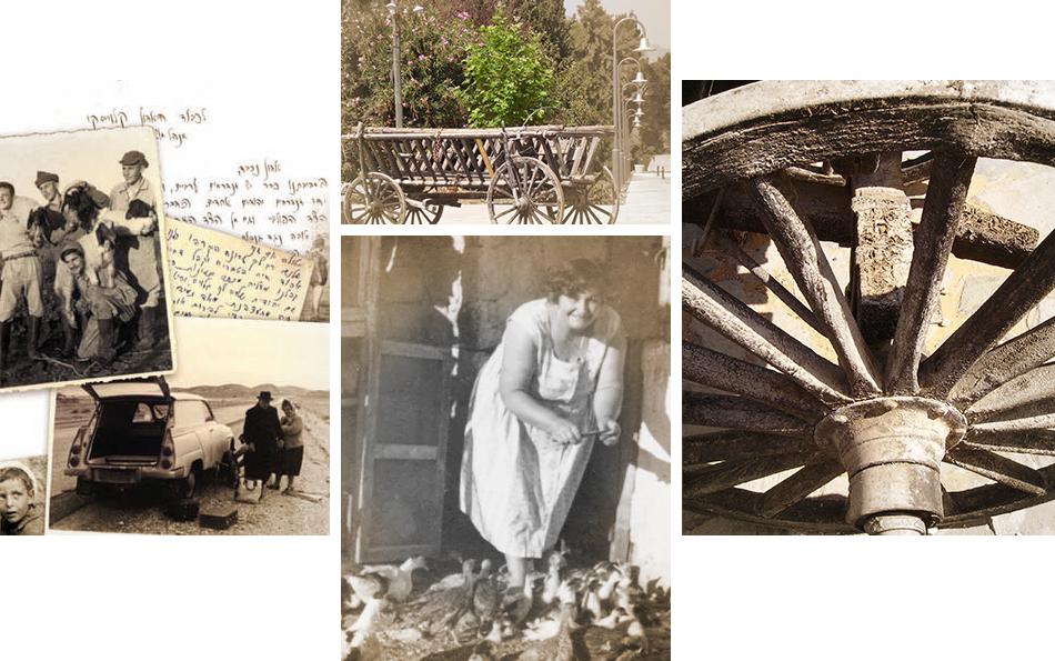 קולאז' תמונות מביוגרפיות שונות